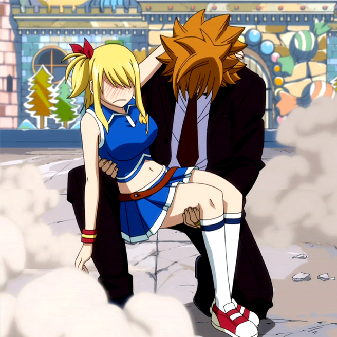 Image - Loke x Lucy jpg - Fairy Tail Wiki  the site for Hiro Mashima s    Fairy Tail Lucy And Loke Kiss