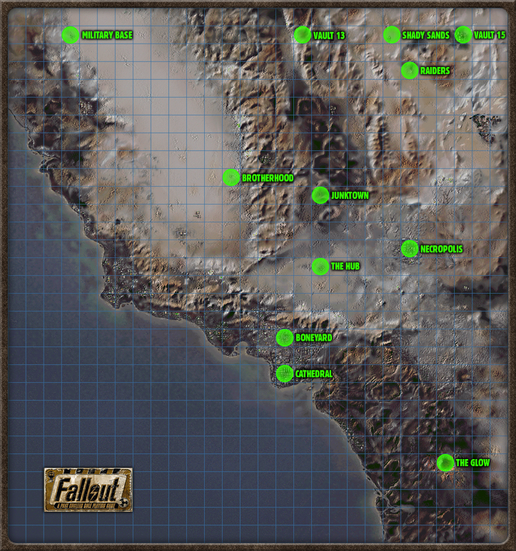 Another Fallout USA Map Posted In The Same Thread As The Last With - Fallout nv map to us