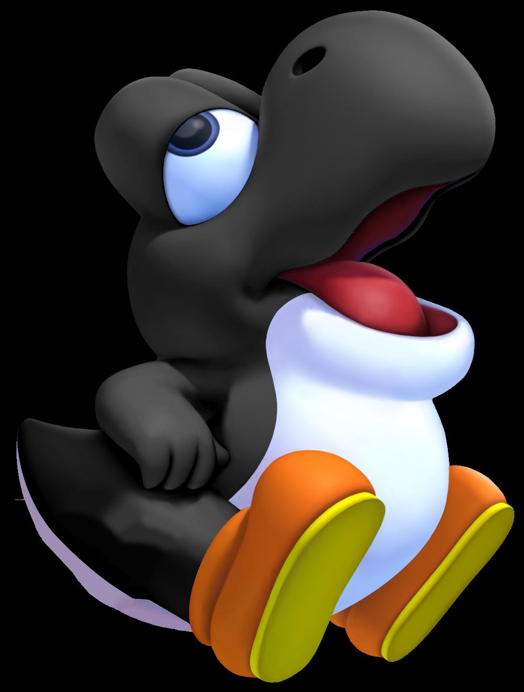 File:Black Baby Yoshi 3D.png
