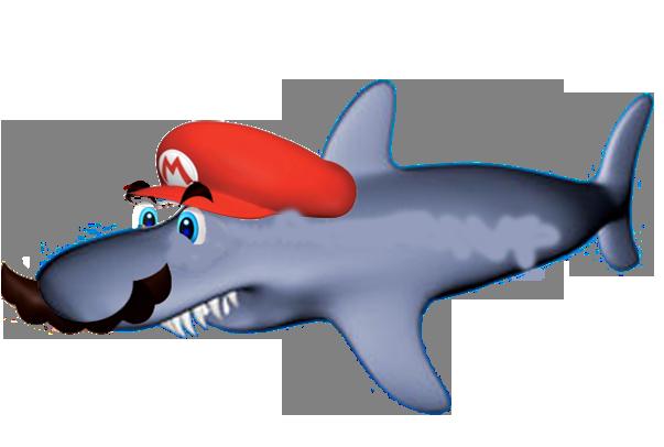 mario powerups shark mario