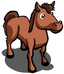 Image horse farmville wiki seeds animals for Farmville horse