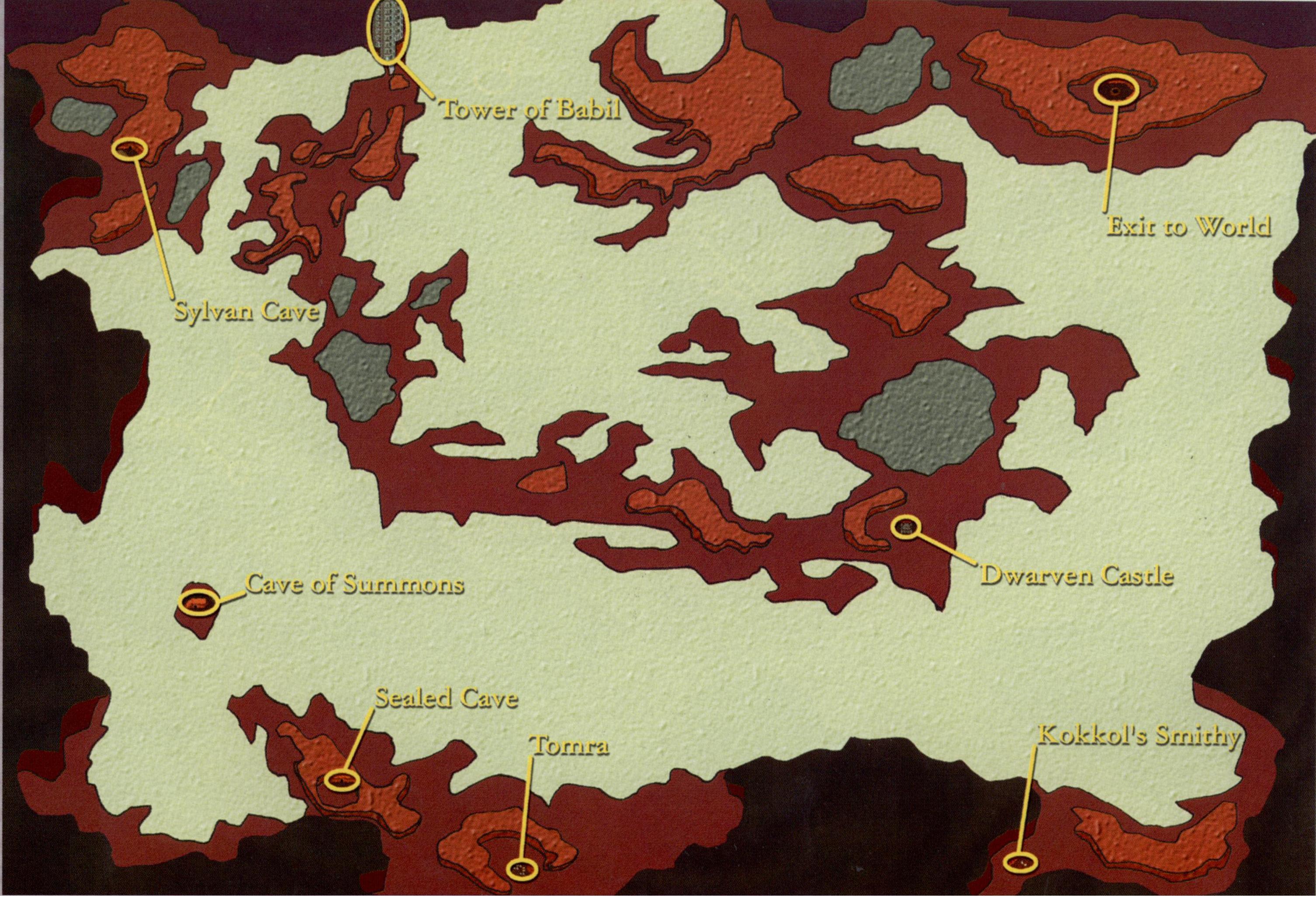 FF2 and FF4 world maps