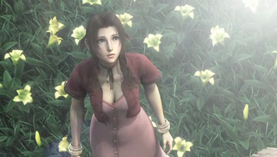 Aerith in her flower bed