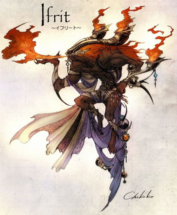 Final fantasy summons ifrit - photo#4