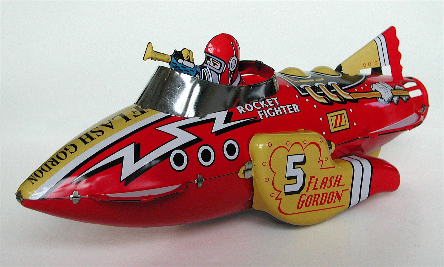 Here is a wonderful flying Flash Gordon rocket ship. One of Max Teller's favorites. www.salemhousepress.com