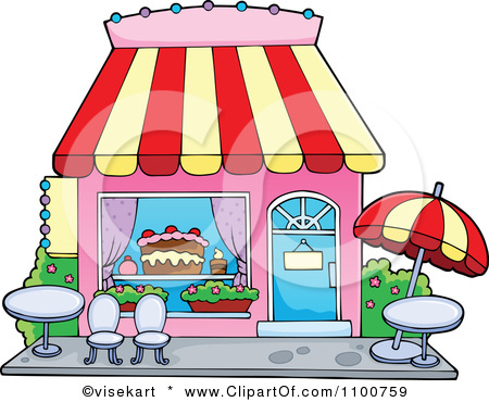 Cake Art Store : Image - 1100759-Clipart-Cake-Or-Candy-Shop-With-Outdoor ...