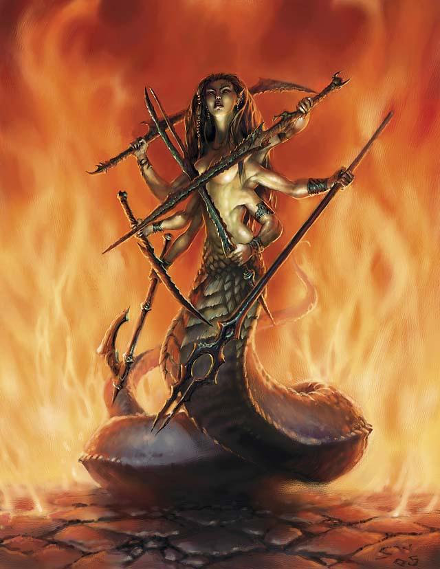 Compendio de Monstruos Marilith_-_Sam_Wood