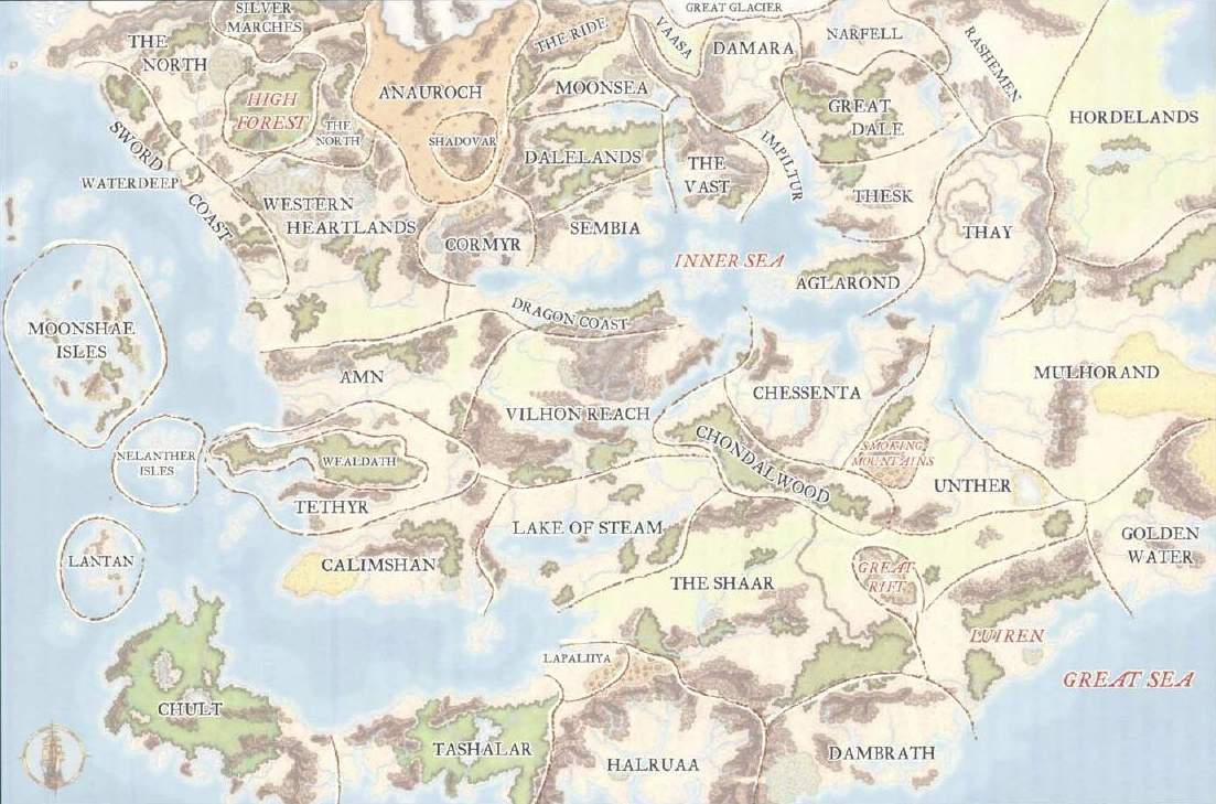 Faerûn - The Forgotten Realms Wiki - Books, races, classes, and more