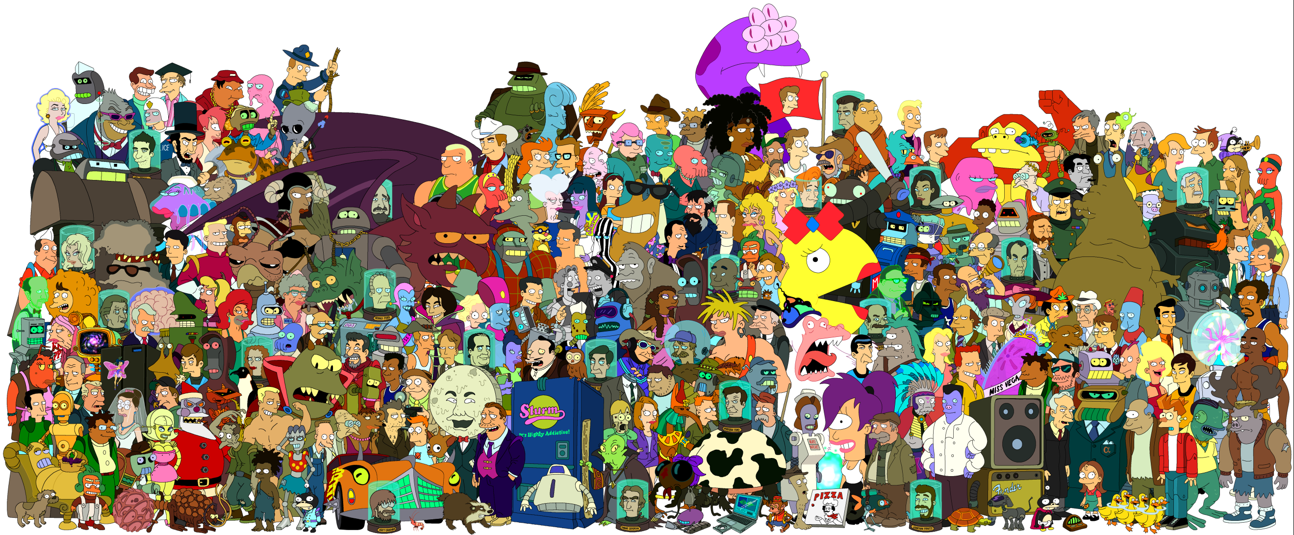 Image futurama personajes 1 png futurama fanon - Female cartoon characters wallpapers ...