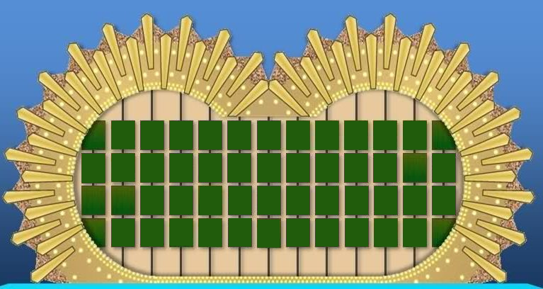 wheel of fortune board template - image wheel of fortune puzzle board 3 png game shows wiki