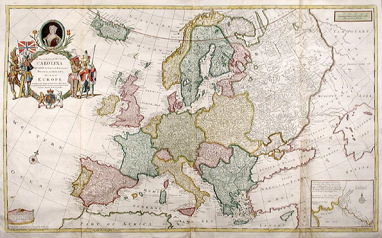 1871 map of europe. Old maps of Europe -