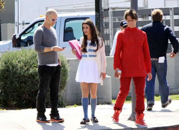 Roupas do Glee :D Lea-Jonathan-on-Set-7