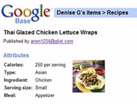 google base  recipes
