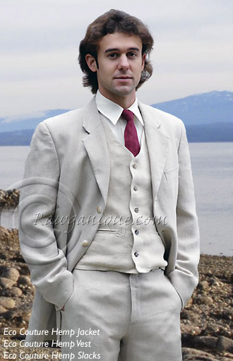 Rawganiquehempmenssuit2jpg Rawganique was started on Denman Island in