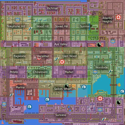 San Andreas GTA Map png - GTA Wiki  the Grand Theft Auto Wiki - GTA    Gta San Andreas Car Map