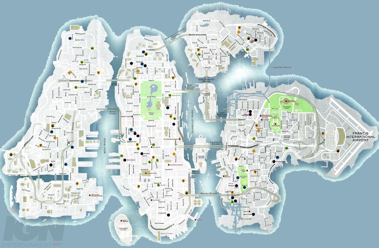 Liberty city road map