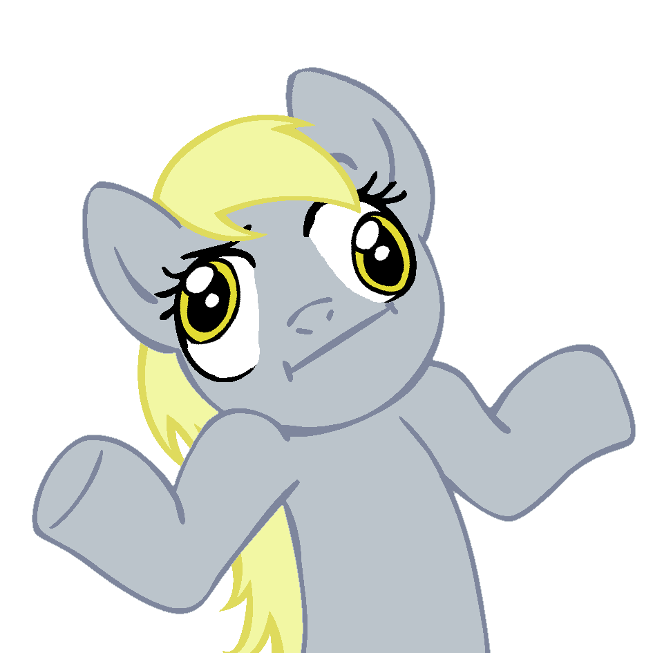Discussion of the Show in General Shrugpony_derpy_hooves_by_moongazeponies-d3cvjx6