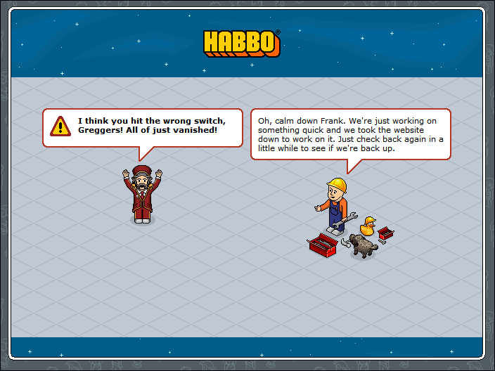 Maintenance Break - HABBOWiki, everything on HABBO.