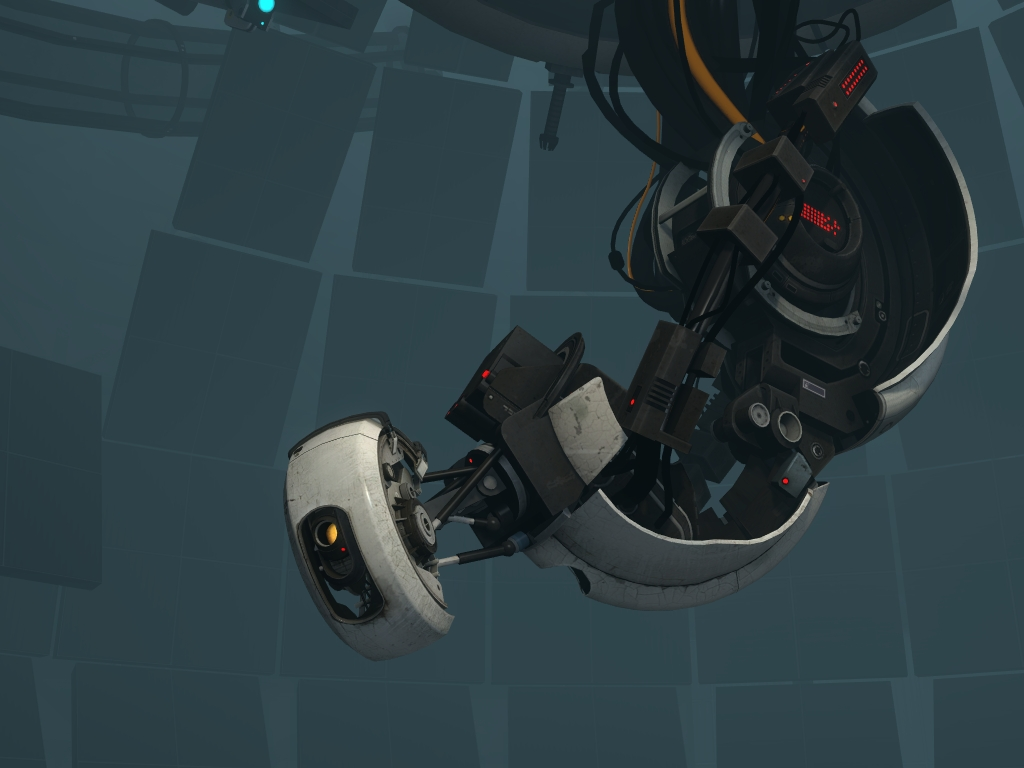 We're still alive! (Source: http://half-life.wikia.com/wiki/File:Glados_new_body.jpg)