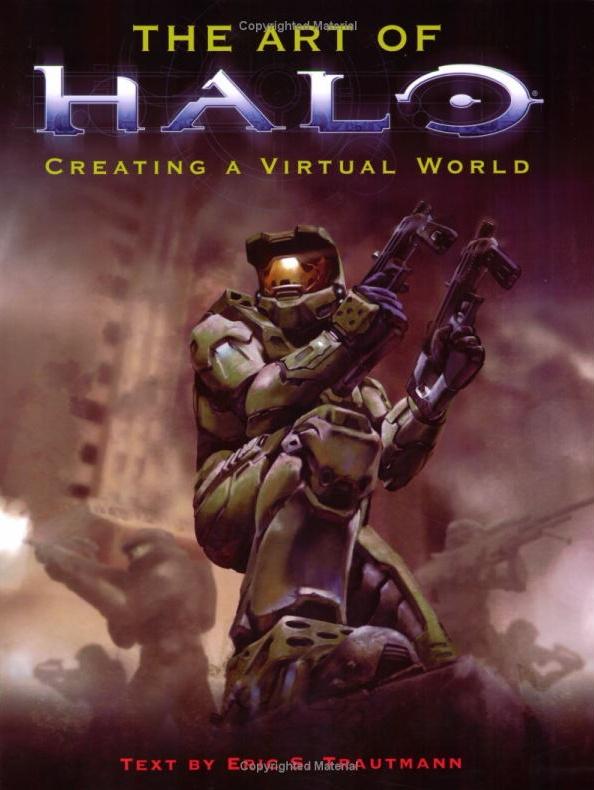 Книжка с рисунками и концептами для знаменитой игры HALO.