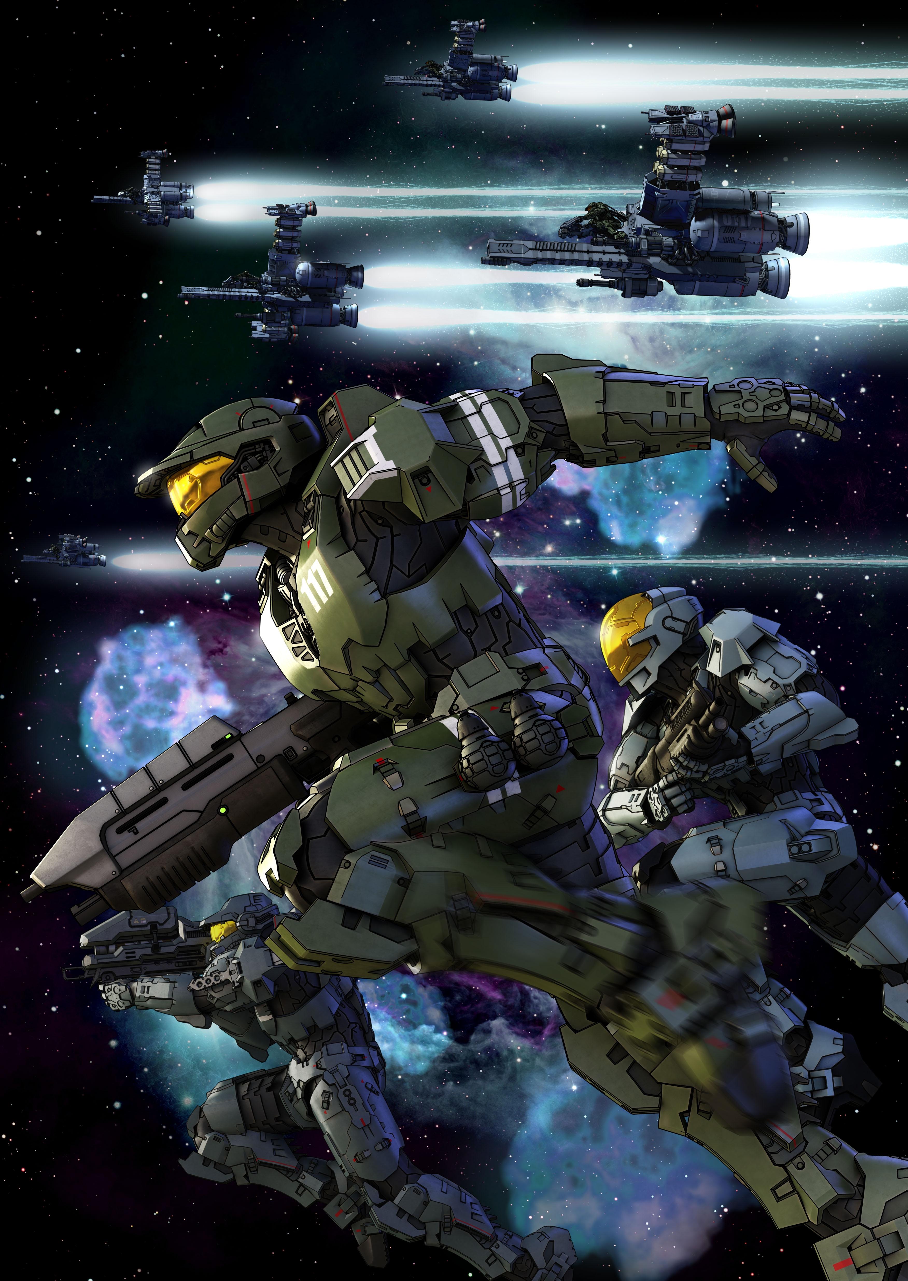 Пара обоин к Halo Legends Anime.