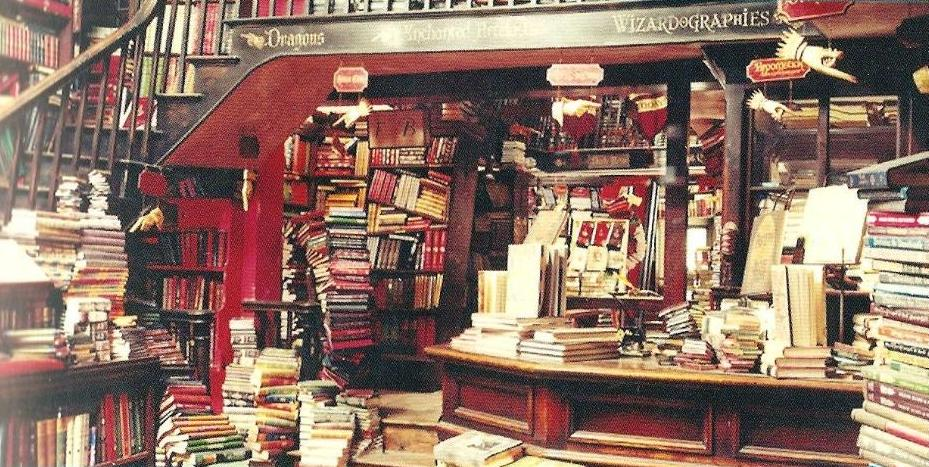 Bookstore in Harry Potter movie
