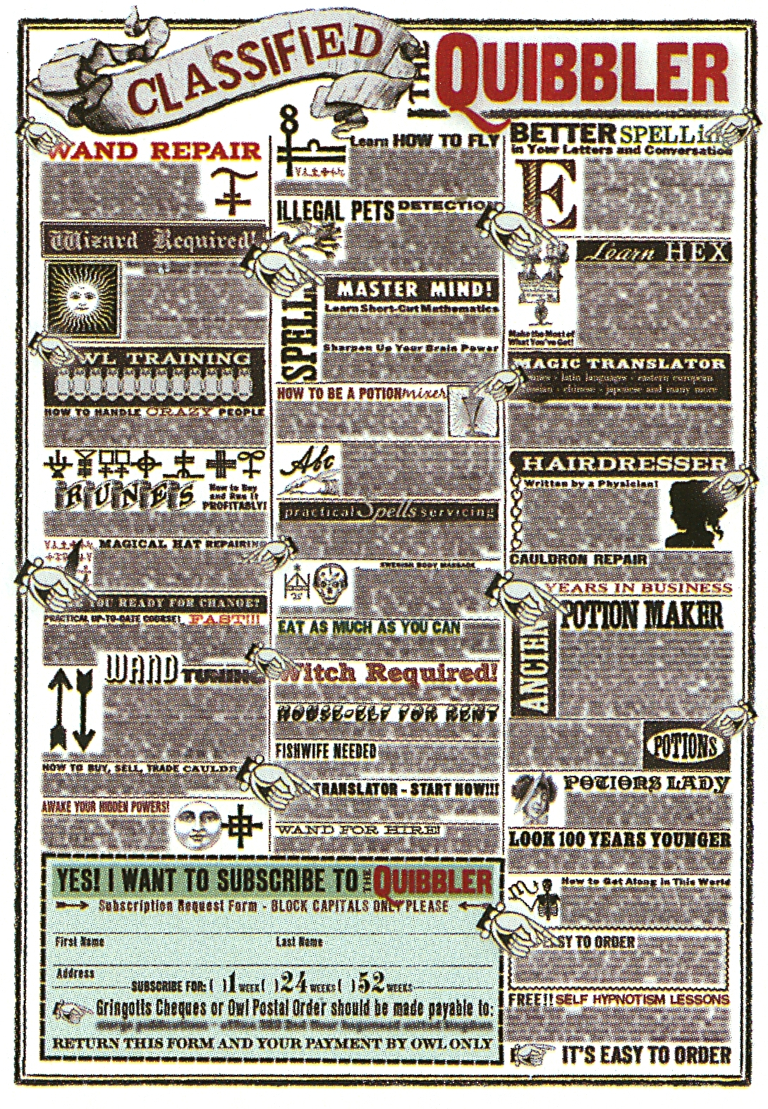 Image - Quibbler 5.jpg - Harry Potter WikiQuibbler Printable Pages