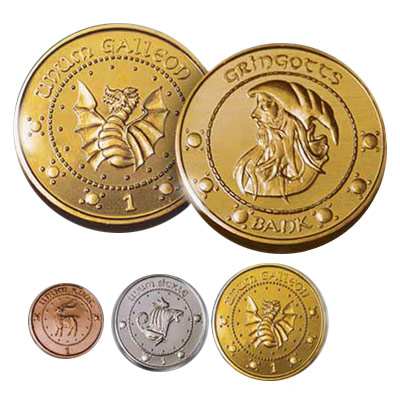 gold coins from Harry Potter