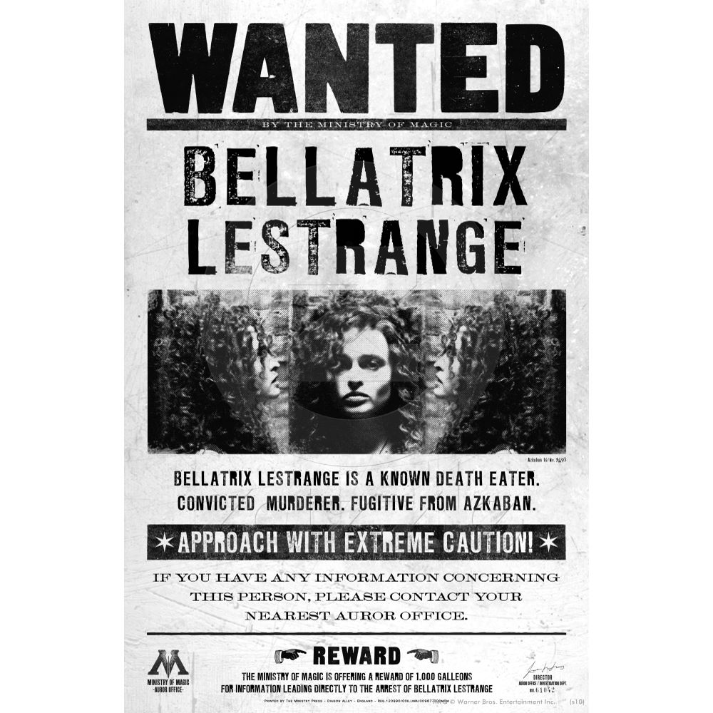 Image - Bellatrix Lestrange Wanted.jpg - Harry Potter Wiki