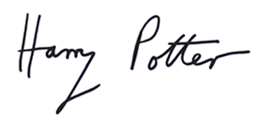 What_does_harry_potters_signature_look_like