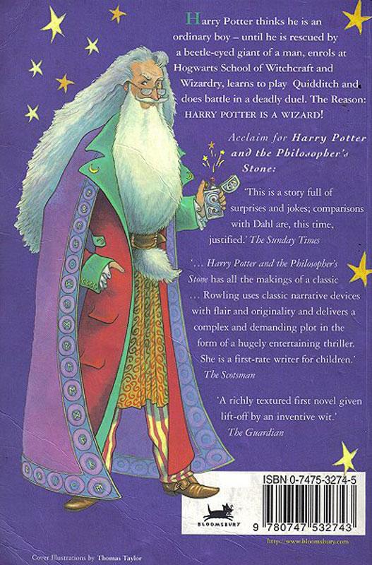 Harry Potter Book Back Cover : Image harrypotter backcover g harry potter wiki
