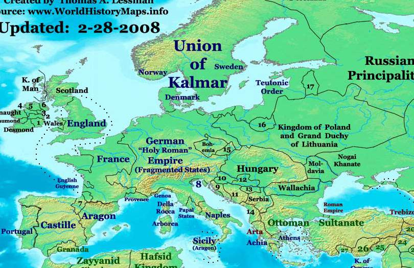 Europe in Year 1400