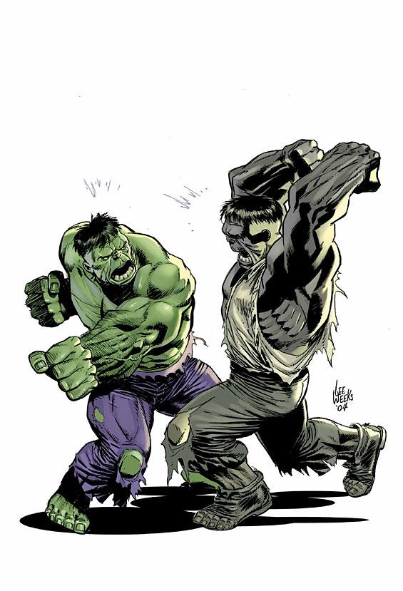 Image - Grey hulk vs hulk.jpg - Hulk Wiki