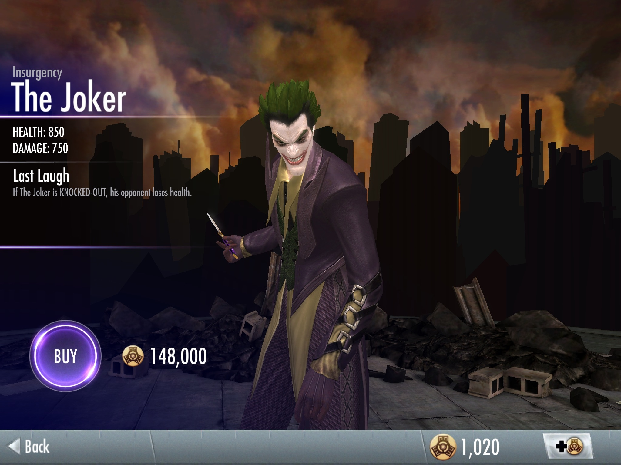 The Joker Injustice Insurgency Image - Insurgency Jok...