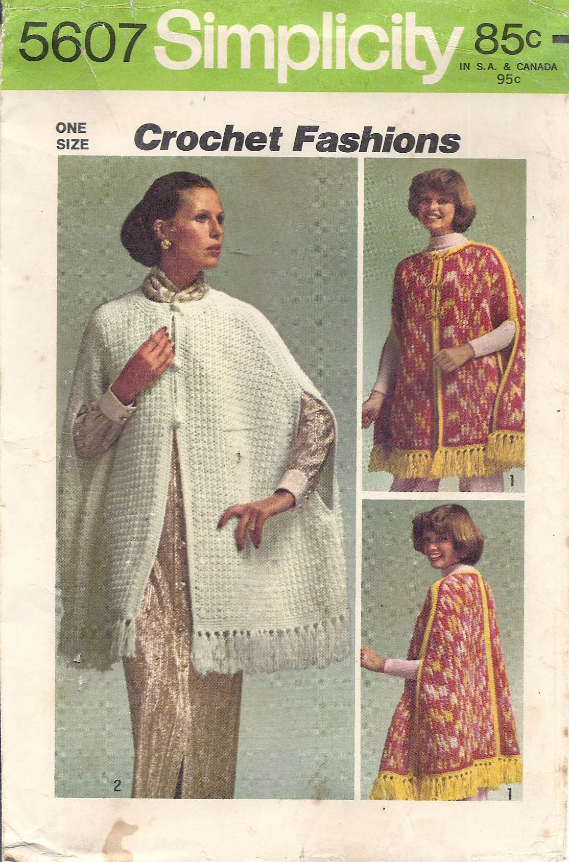 PATTERNS FOR KNITTING CROCHET CAPES ? Easy Crochet Patterns