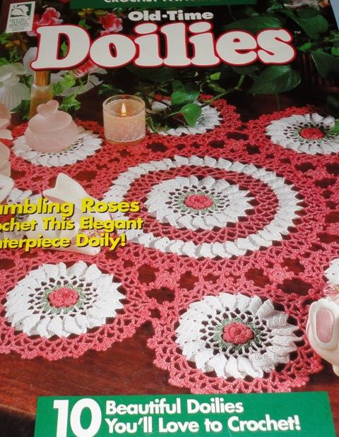Beaded Rose Jar Doily - Crochet Patterns, Free Crochet Pattern