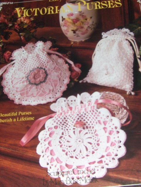 Free Victorian Crochet Pattern: Straw Basket with Silk Crochet Work