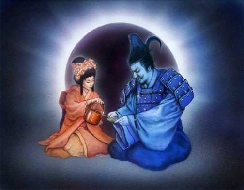 Mitologia del Rokugan Amaterasu_and_Onnotangu