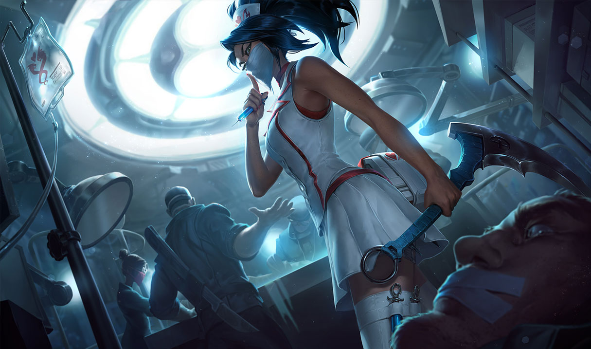 P.O League Of Legends Champs And Skins Akali_NurseSkin