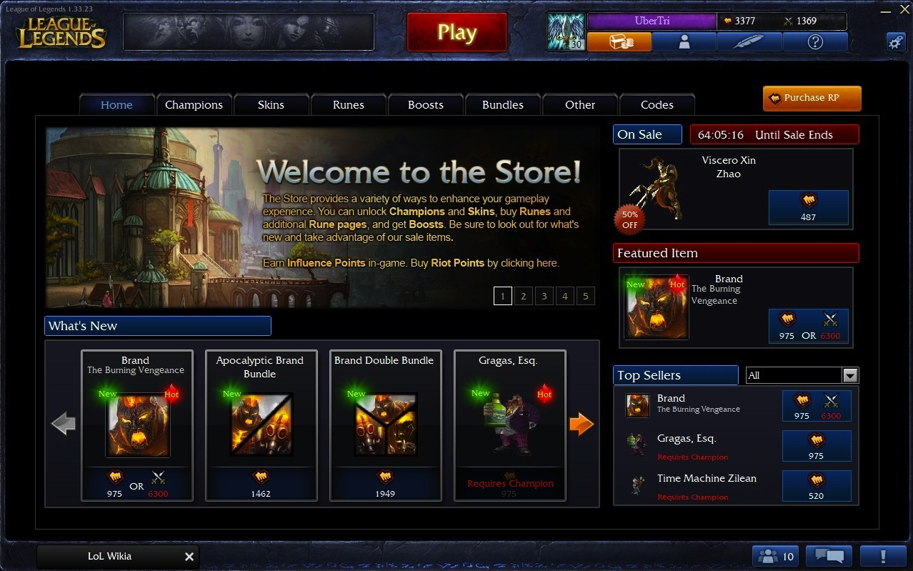 League of Legends In-Game Store