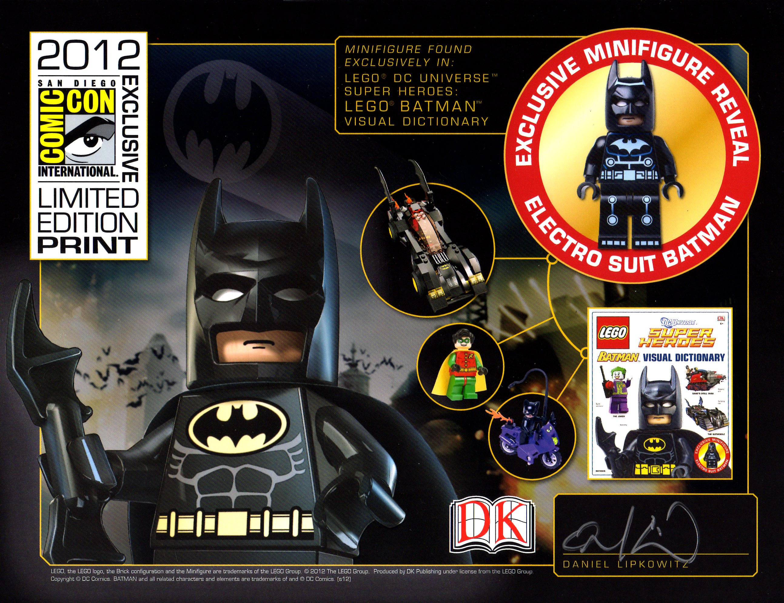 Image lego batman visual dictionary exclusive print sdcc 2012