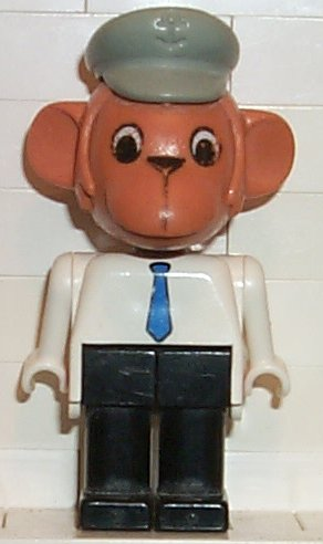 Fabuland Figure Monkey 1 with Red Hat.