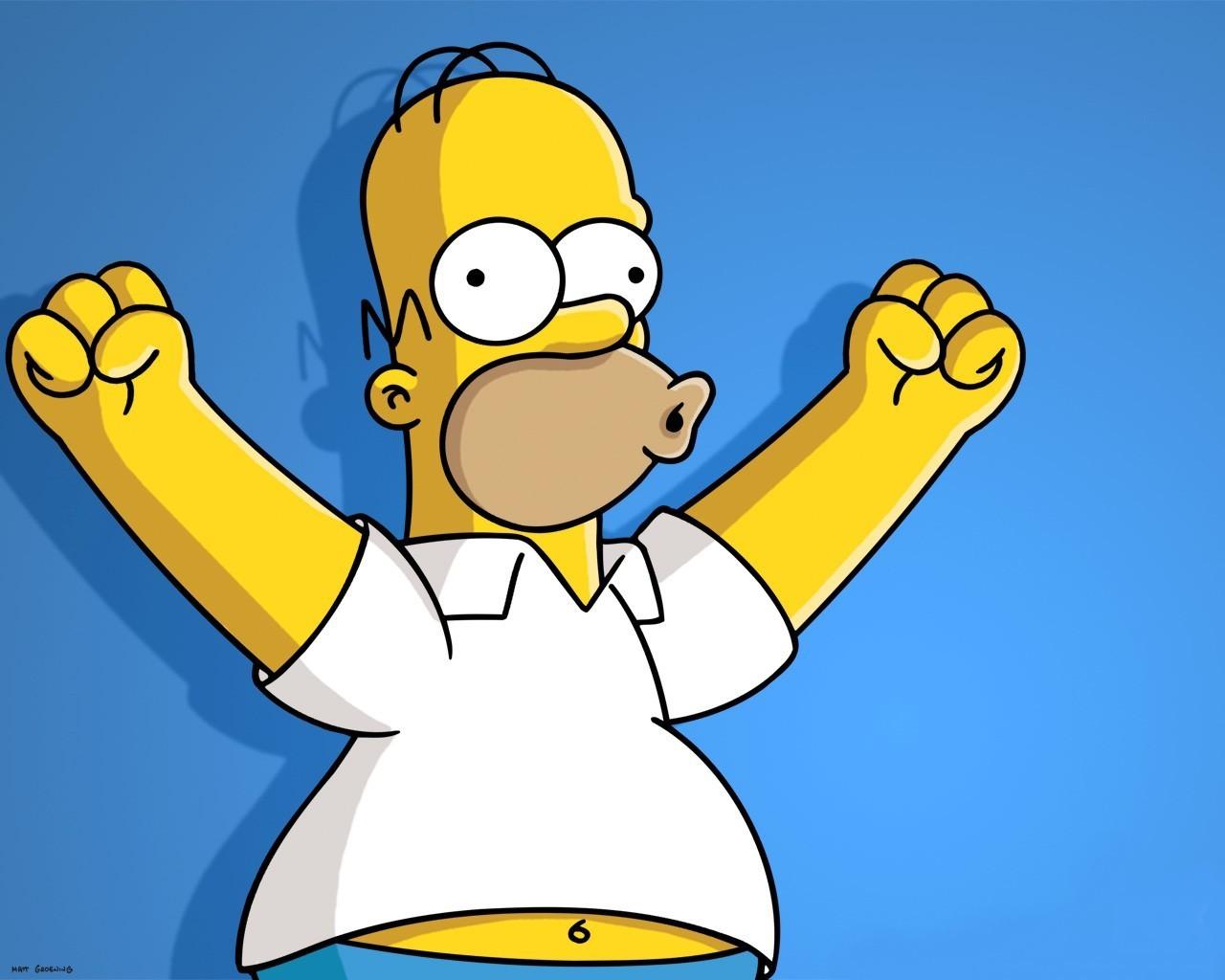 Top 5 personajes favoritos de series - Página 3 Homer-simpson-1280x1024