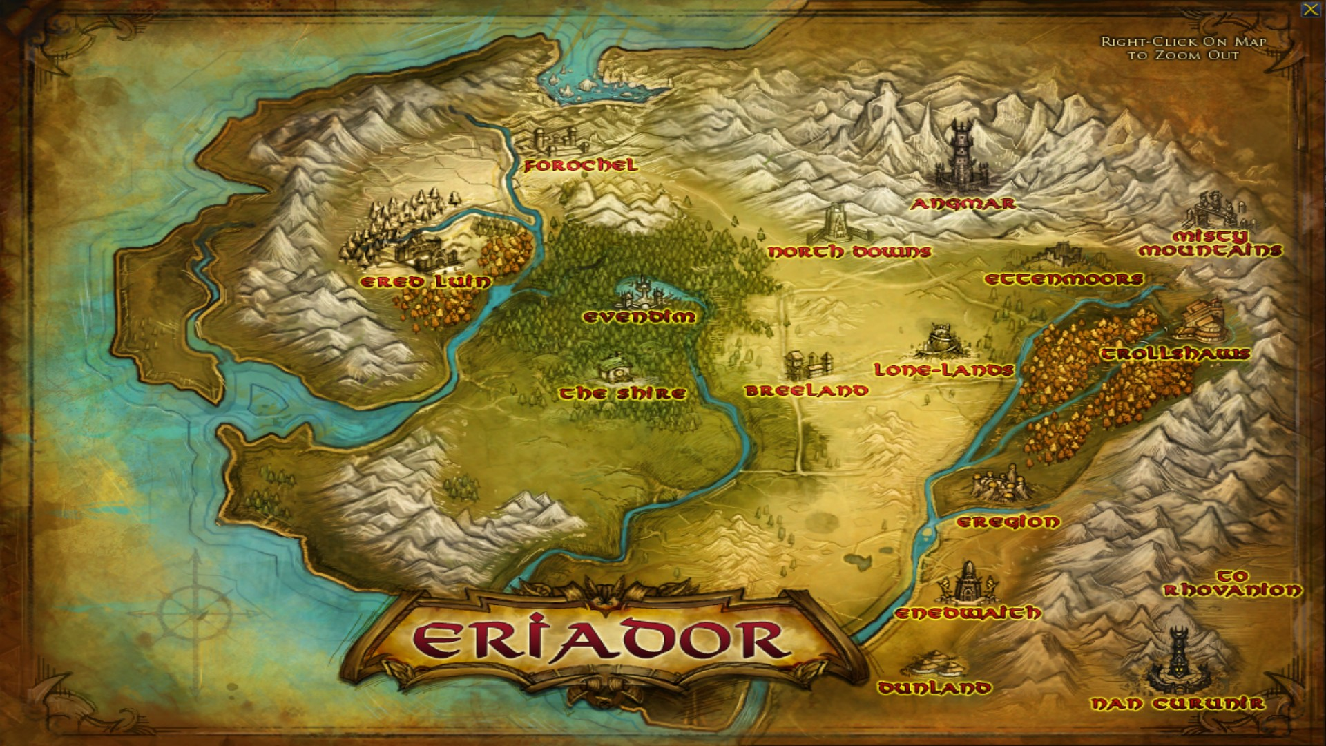 lord of the rings online full map