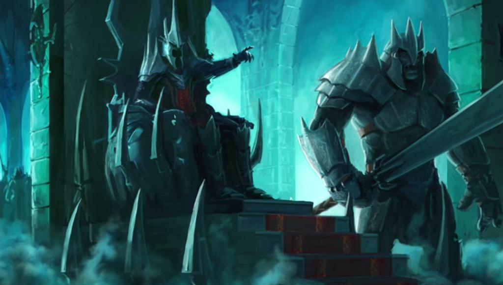 Les Mages Renégats... [RP Solo] The_Witch-King_sits_on_his_throne_in_Angmar