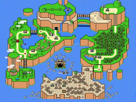 Super Mario World[Super Nintendo] Super-Mario-World-SNES-Map