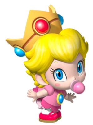 princess peach mario kart. Baby Peach as she appears in