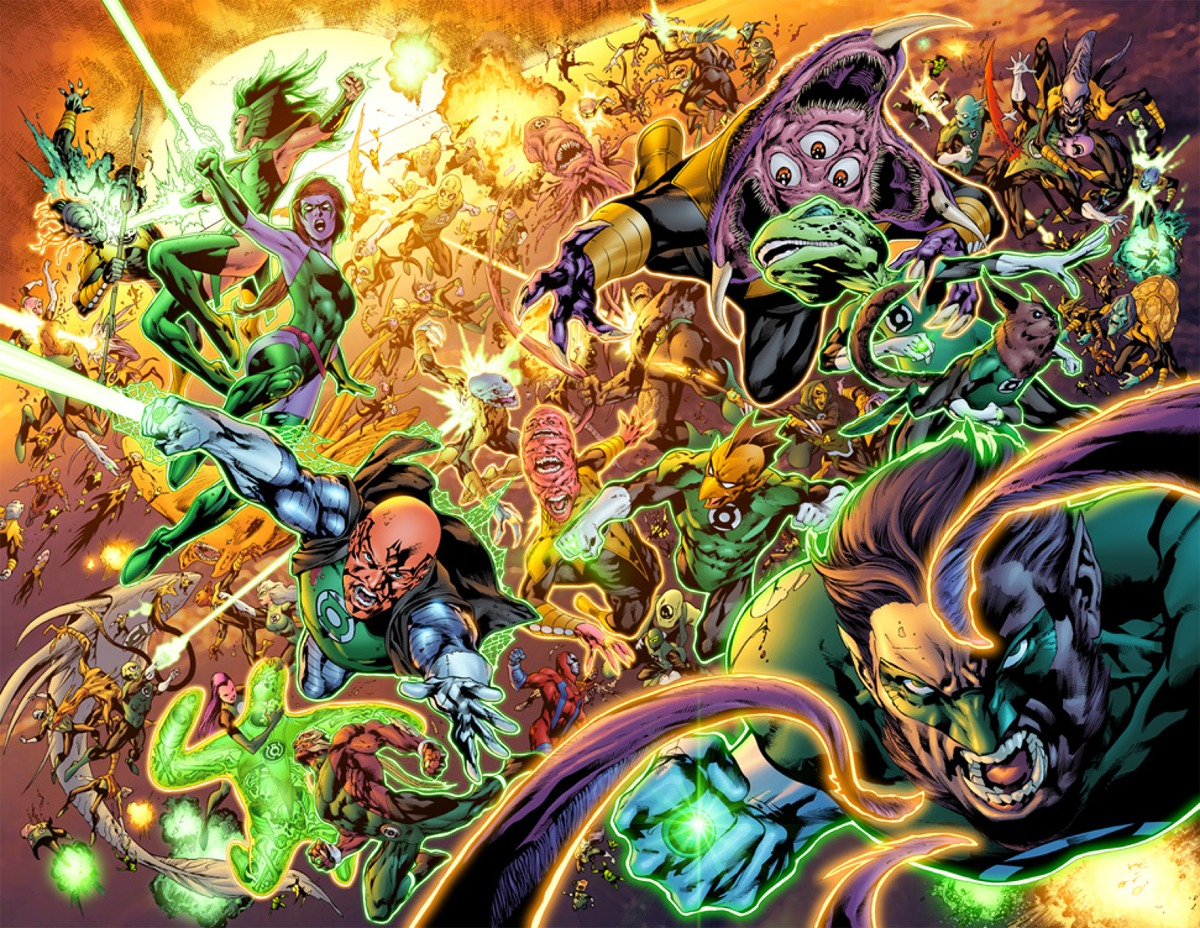 Smaragd Harcosok Green_Lanterns_vs_Sinestro_Corps_01