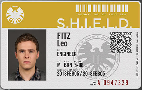 Legitimate I.D. card including a QR scan spot... S.H.I.E.L.D is legit.