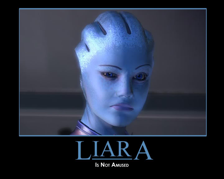 Liara is not amused